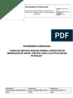 Ope-pgsps-012 Fuera de Servicio (Parada Normal) Operación de Generador de Vapor Portatil Para La Extracción de Petróleo