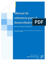 Manual Desarrollador Servicio Web Timbrado