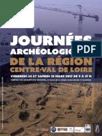 Journées archéologiques de la région Centre-Val de Loire 2017 Programme
