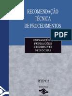 RTP 03-Escavações, Fundações e Desmonte de Rochas