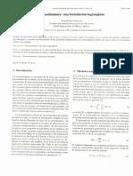 Lagrangiano y Mecanica Clasica