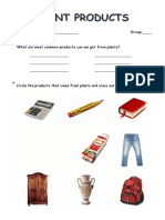 plant products worksheet