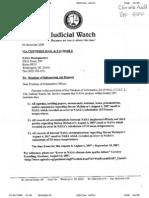 Judicial Watch FOIA Request #1
