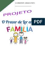 Capa Do Projeto o Prazer de Ler Em Familia