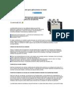 Elección de un contactor para aplicaciones no motor