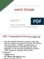 Lesson 10 the Simple Present
