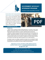 Midwest Political Advocacy Internship Application