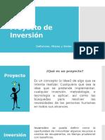 Proyecto de Inversión, Definición, Misión, Visión
