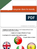 La Langue Francaise Dans Le Monde