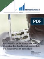 (RB868)La Situacion Deducacion Rural en Colombia Los Desafios Del Posconflicto y La Trasformacion Del Campo
