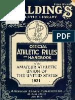 (1921) Handbook of the Amateur Athletic Union