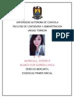 Evidencias Primer Parcial Derecho Mercantil Blanca Flor Gurrola