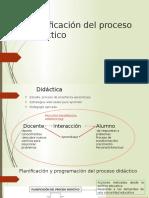 Planificación del proceso didáctico