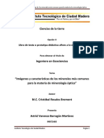 Imágenes y Caracteristicas de Los Minerales Más Comunes Para La Materia de Mineralogía Óptica