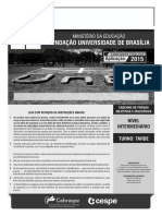 Cespe 2015 Fub Conhecimentos Basicos Nivel Intermediario Cargo 8 Prova