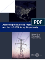 Assessing the Electric Productivity Gap and the U.S. Efficiency Opportunity