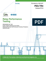 IEEE PES - Relay Performance Testing