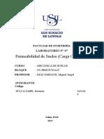 Permeabilidad de suelos (Carga Constante)