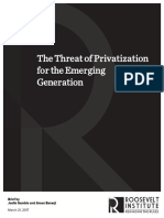 The Threat of Privatization for the Emerging Generation