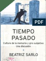 Tiempo Pasado_Beatriz Sarlo