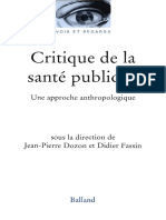 Critique de la santé publique. Une approche anthropologique