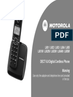 Motorola L601 Cordless Phone L601M
