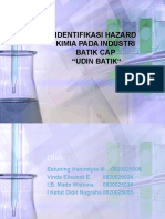 Identifikasi Hazard Kimia Pada Industri Batik Cap
