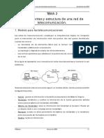 Componentes y estructura de una red de telecomunicación.