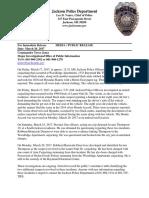 Press Release-South Jackson Carjackings Arrest