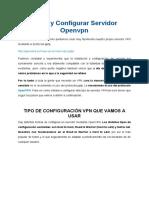 Crear y configurar servidor openvpn
