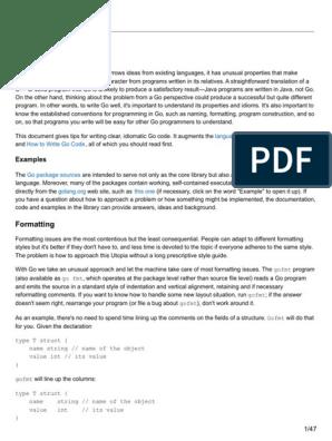 Golang org Effective Go | Pointer (Computer Programming