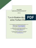 Bihr - La Civilisation Des Mœurs Selon Norbert Elias