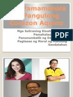 Ang Pamamahala Ni Pangulong Corazon Aquino