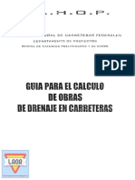 Guia Para Calculo Obras Drenaje Sahop