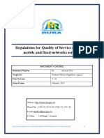 Regulations for Quality of Service Cellular Mobile Fixed Networks