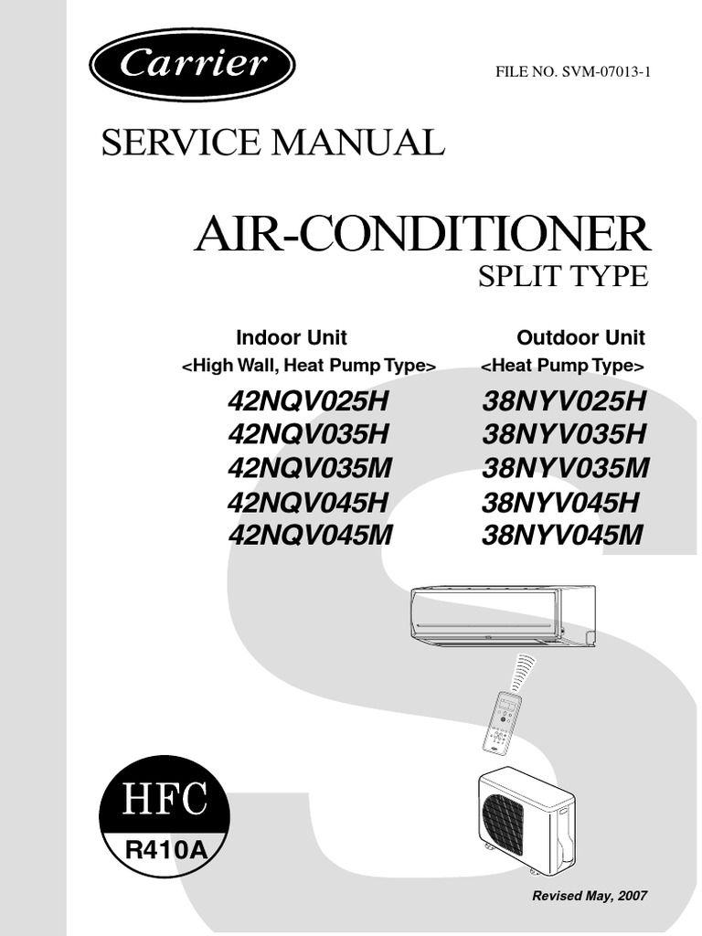carrier service manual airconditioner split type air conditioning rh scribd com Split Aircon Units LG Air Con Split Type