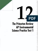 Environmental Science Model Test 1 Princeton 2006 07