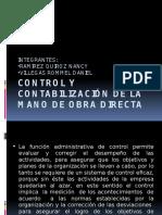 Control y Contabilización de La Mano de Obra