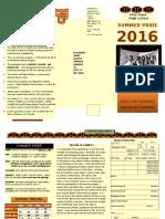 2016 summer pride brochure