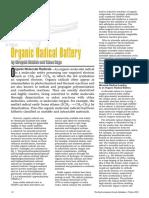 Organic Radical Battery