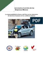 GRUFIDES_policia Mercenaria a Servicio de Las Empresas Mineras