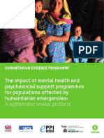 The Impact of Mental Health and Psychosocial Support Programmes for Populations Affected by Humanitarian Emergencies