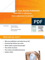 How to Get Your Article Published