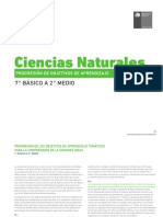Progresion de OA 7 a 2 Ciencias Naturales