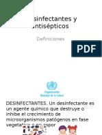 Desinfectantes y Antisépticos