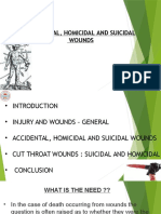 Accidental,Homicidal and Suicidal wounds