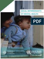 Social Determinants Mental Health