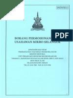 Borang Permohonan Dana Usahawan Mikro Selangor