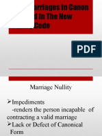 Void Marriages in Canon Law and in The