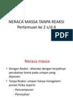 Pert 2-4 Penyelesian Neraca Massa Tanpa Reaksi